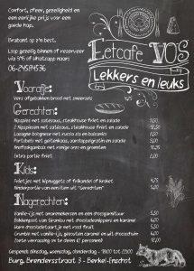 Nieuwe menukaart voor Eetcafe VOS