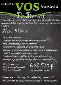 Eetcafe VOS presenteert De Proeverij