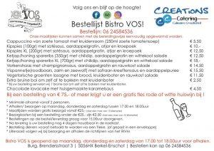 Het traiteur menu bij Bistro VOS