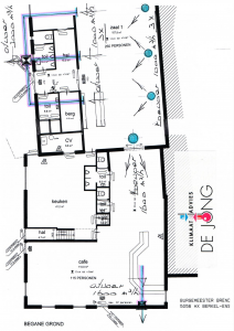 Ventilatieschema locatie Berkel-Enschot